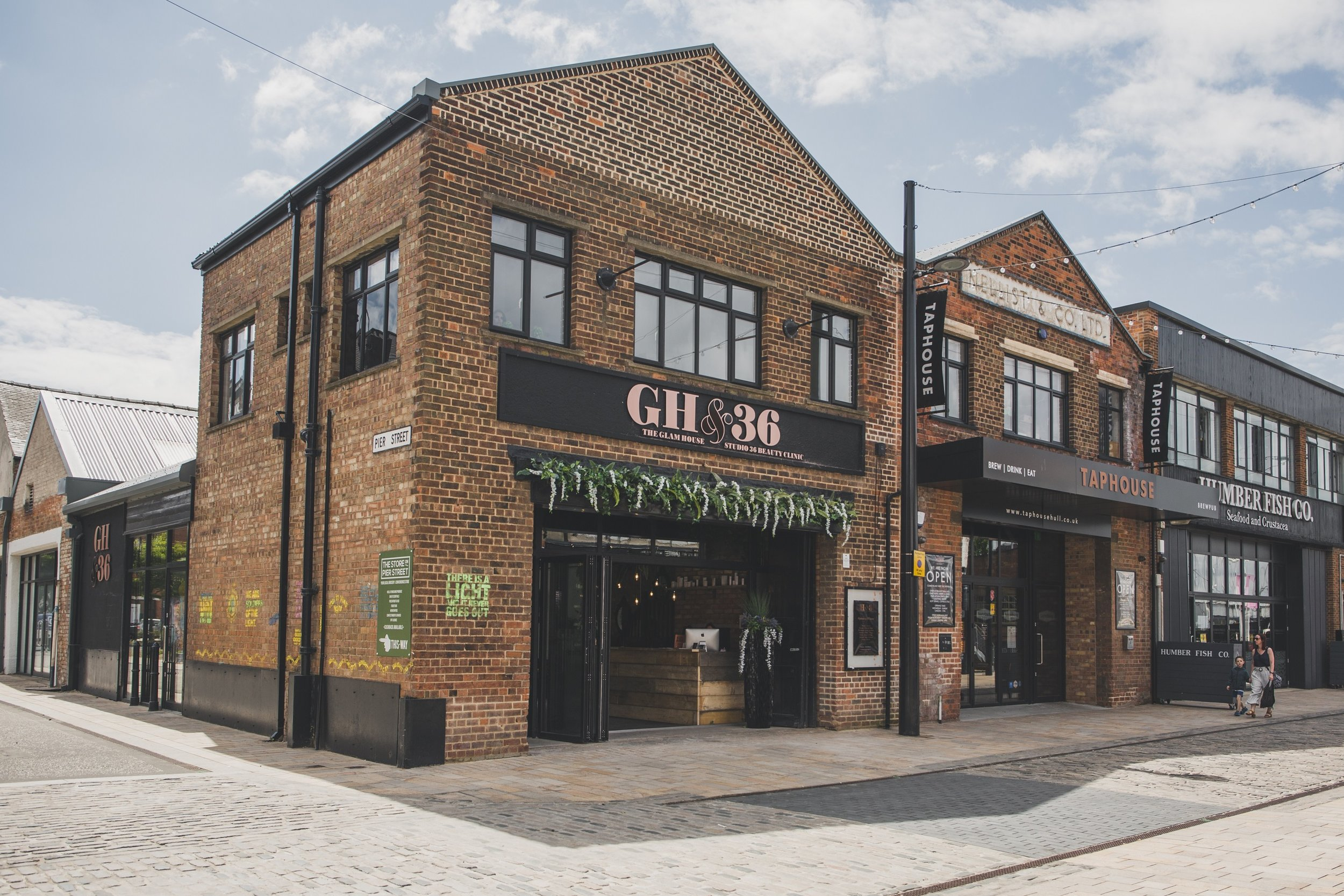 The salon name comes from a combination of Zoe and Julie's respective businesses, Glam House and Studio 36, which were previously based above the Toni & Guy hair salon in Paragon Street, Hull.