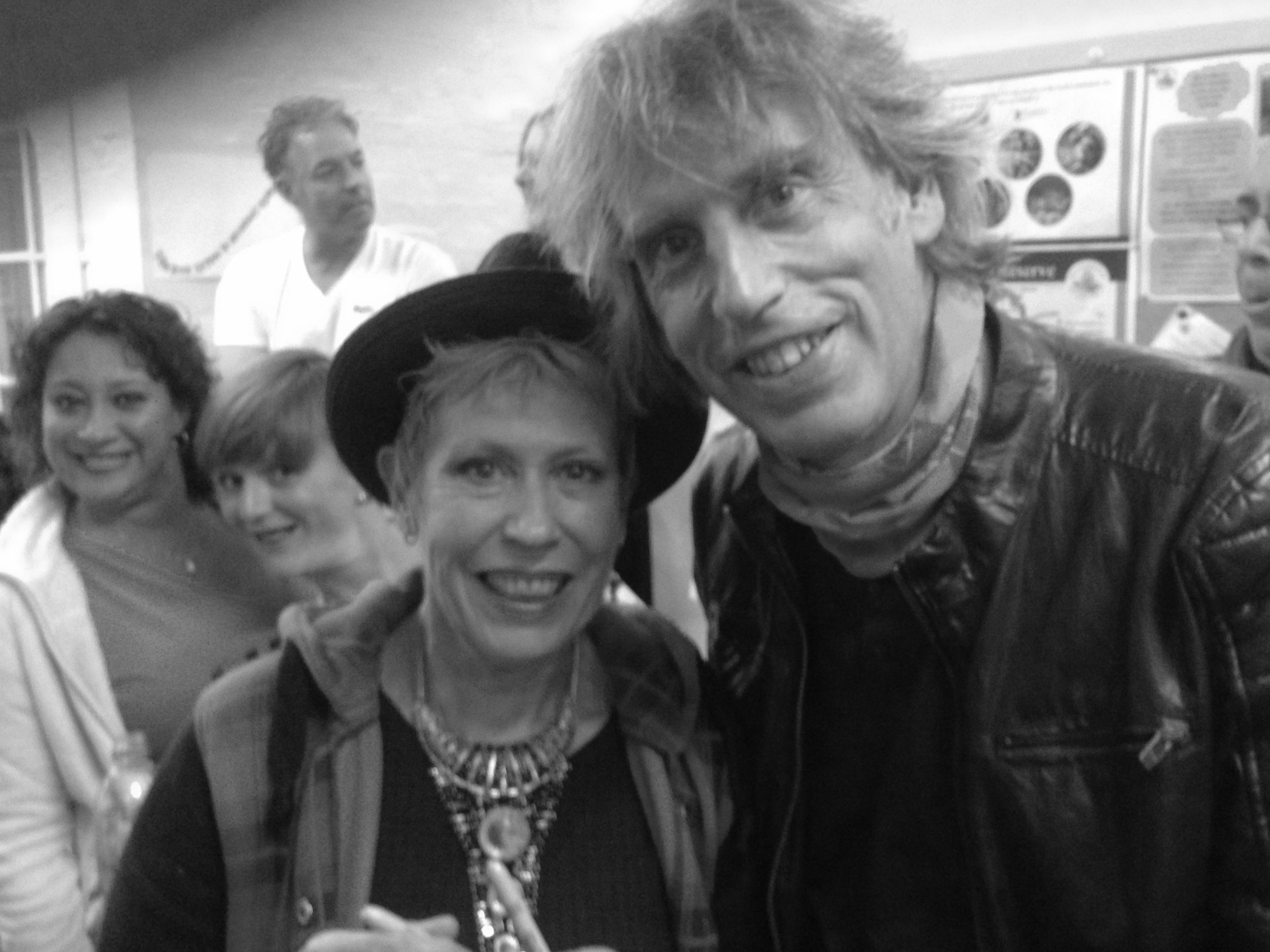 Hazel O'Connor & Me at The Phoenix Theatre Bordon 10-10-15 B&W.jpg