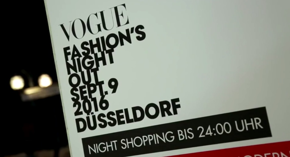 Vogue Fashion's  Night Out Düsseldorf 2016 by QVC - Interview mit Maja Sommer