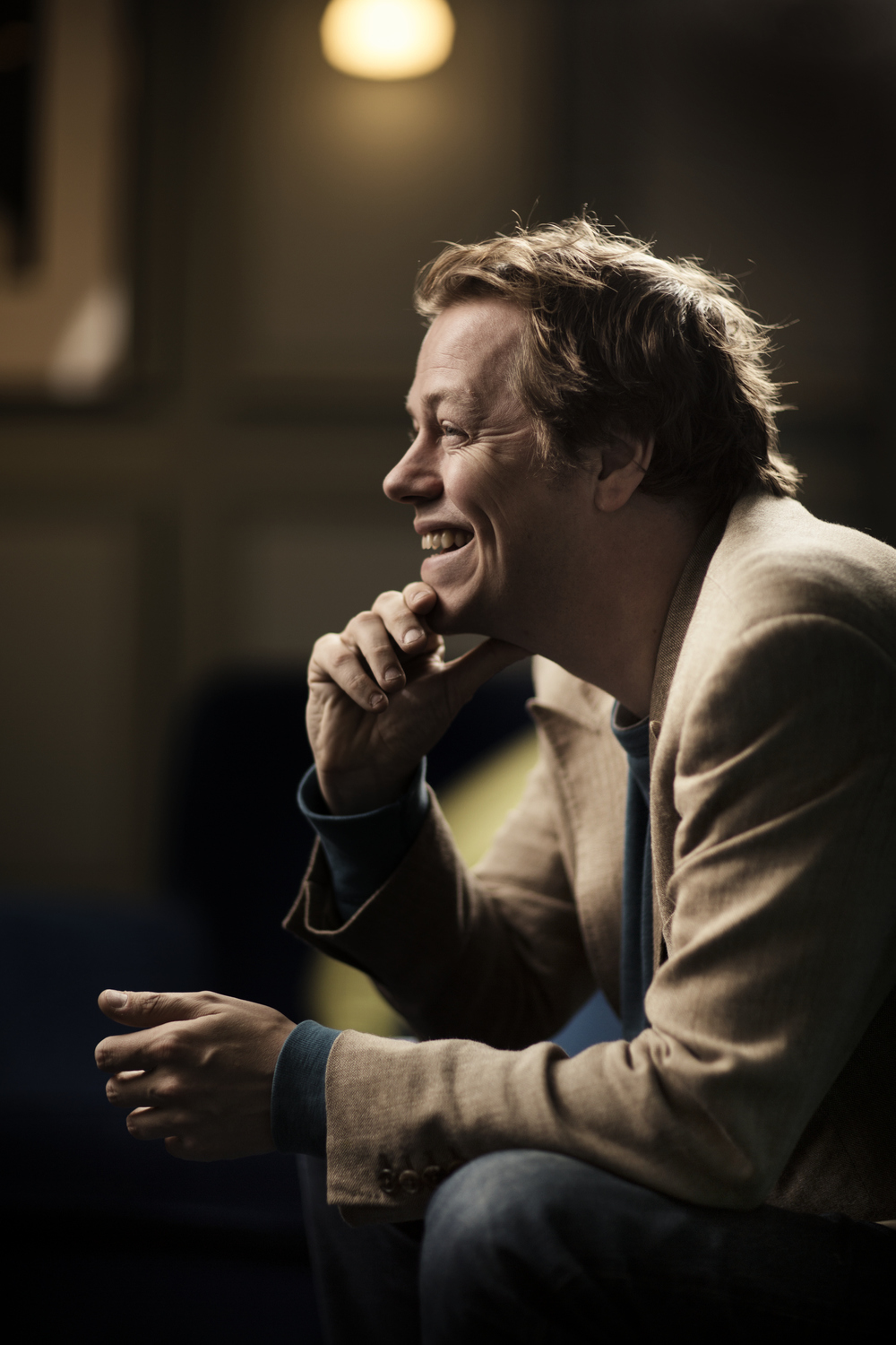Tom Parker Bowles profile piece for T2, shot at the Groucho Club Soho he has a new cook book coming out.