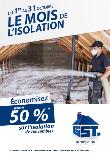 Offre 50% sur l'isolation des combles | GST