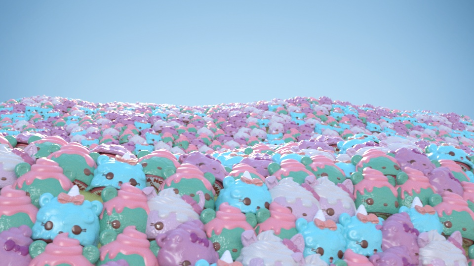 A child's dream - a sea of Num Noms, albeit CGI ones.