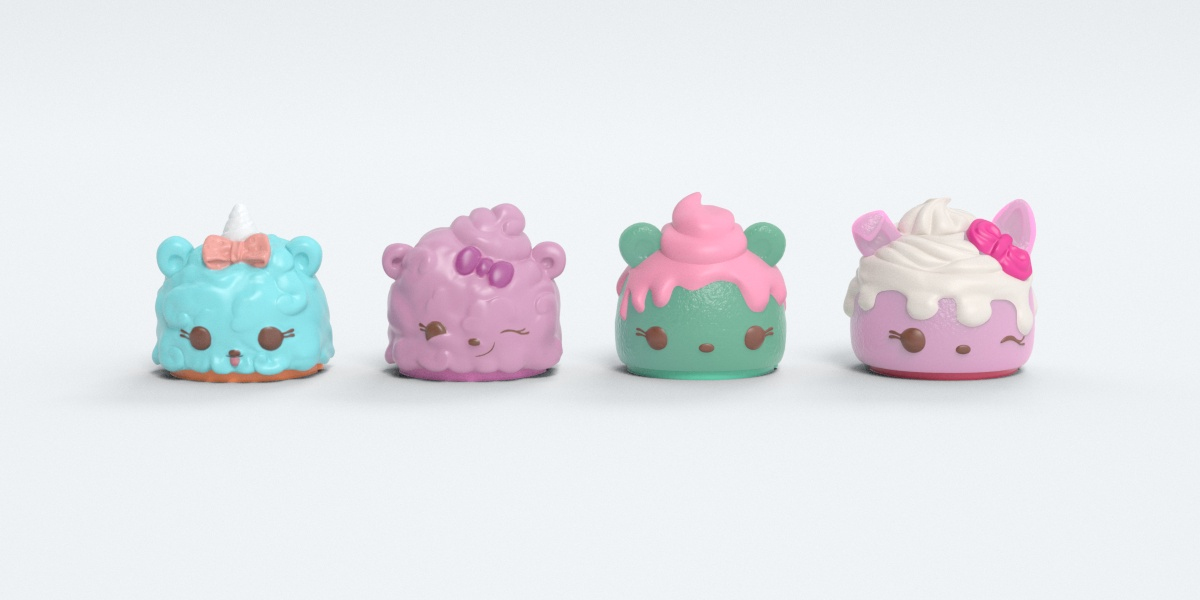 CGI renders of the top half of the featured Num Noms.