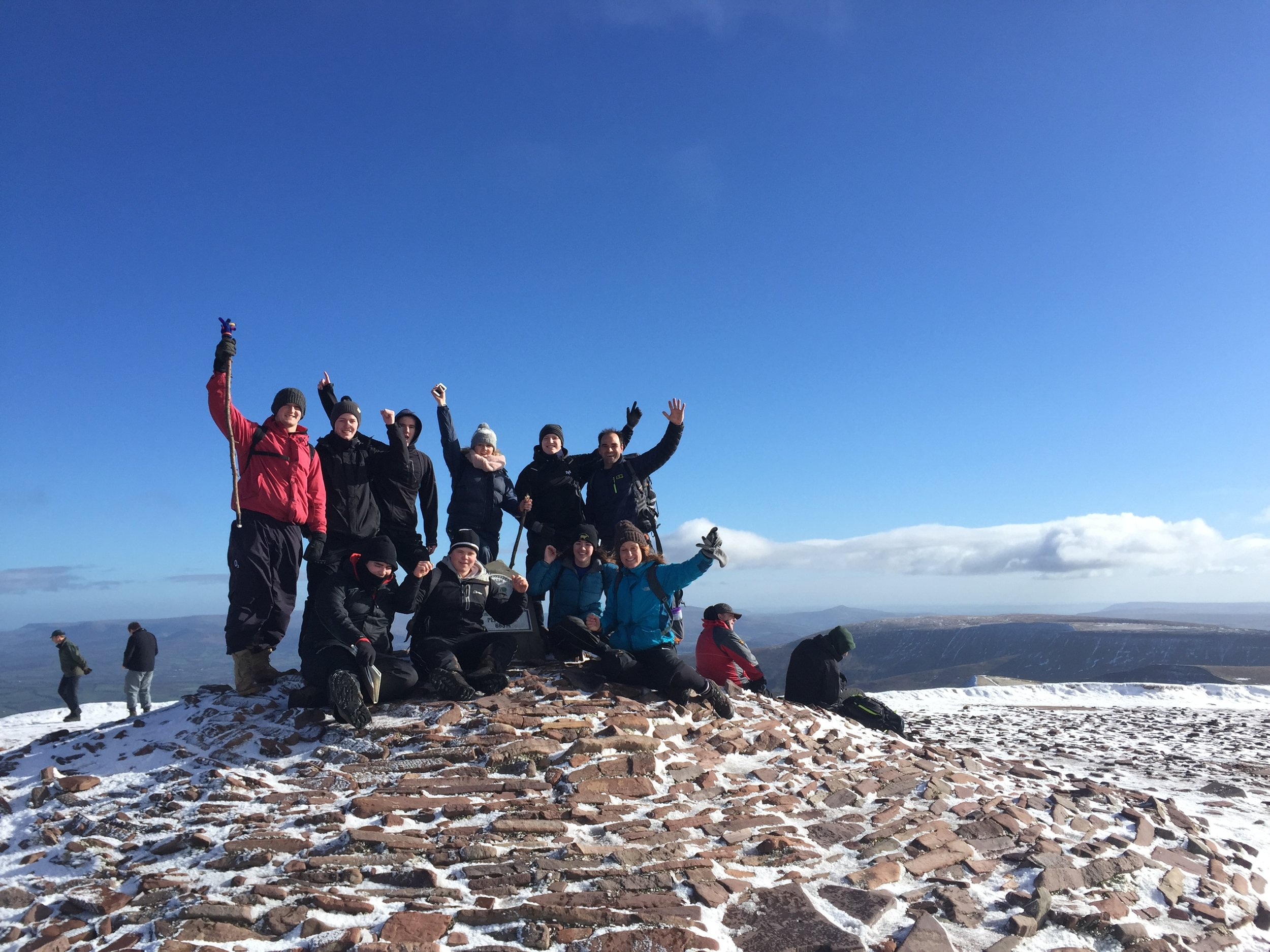 Successful summit for this group of outdoor students.