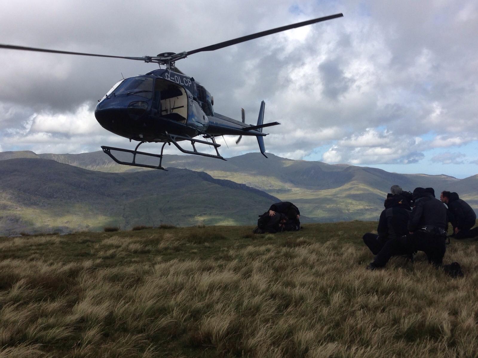 Tim keeping low while filming CITV & ITV Bear Grylls Survival School (Season 1).