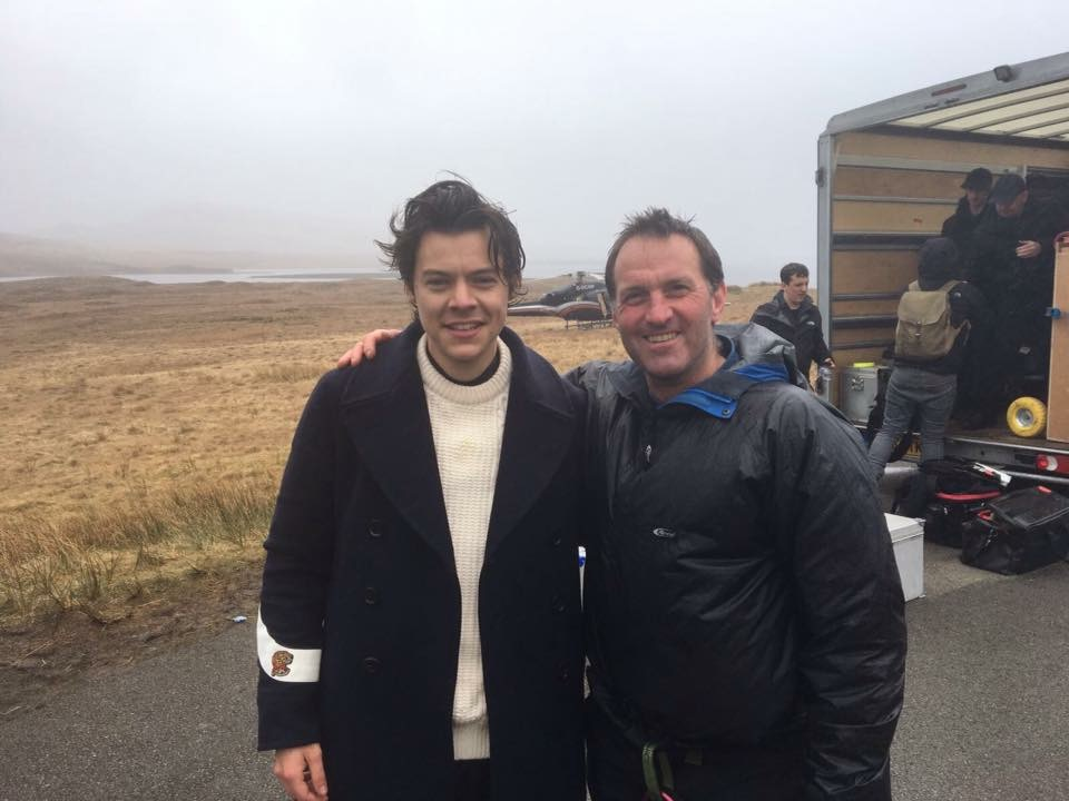 Dave member of TTAdventures crew on Harry Styles music video, 2017.