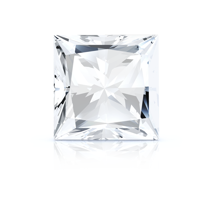 PRINCESS CUT DIAMOND FRONT