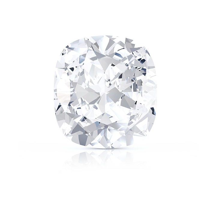 CUSHION CUT DIAMOND FRONT