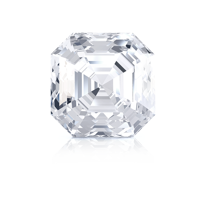 ASSCHER DIAMOND FRONT