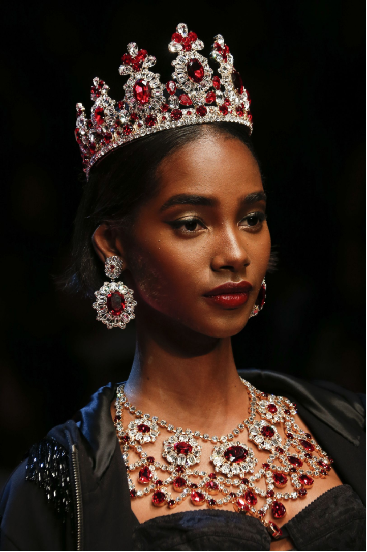 Dolce & Gabbana's regal jewels. Photo credit Indigital