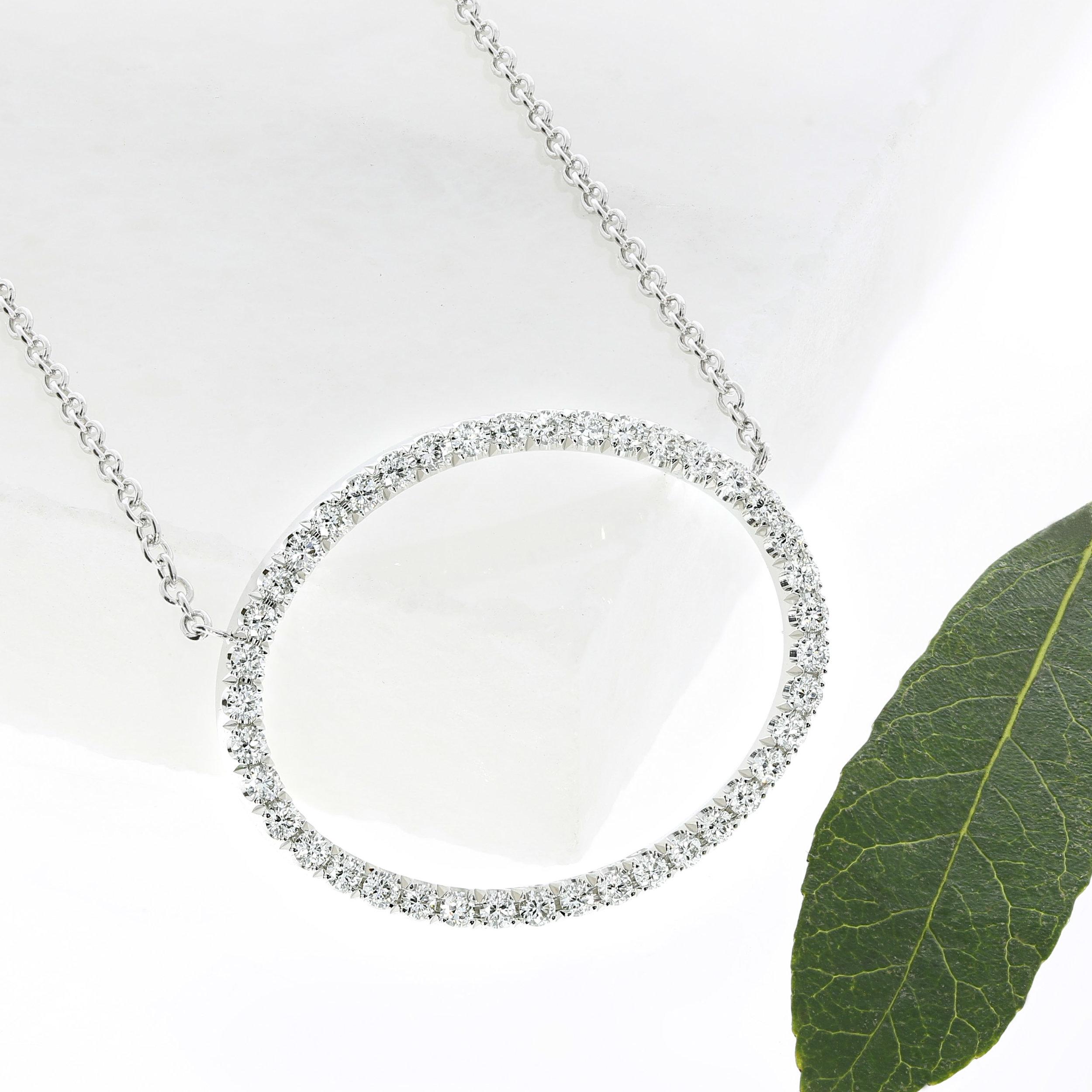 A bespoke diamond pendant by Queensmith