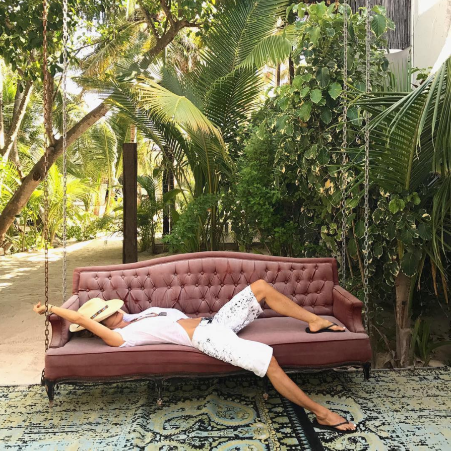 The highly instagrammable swinging sofas of Casa Malca, by  @ellemacphersonofficial