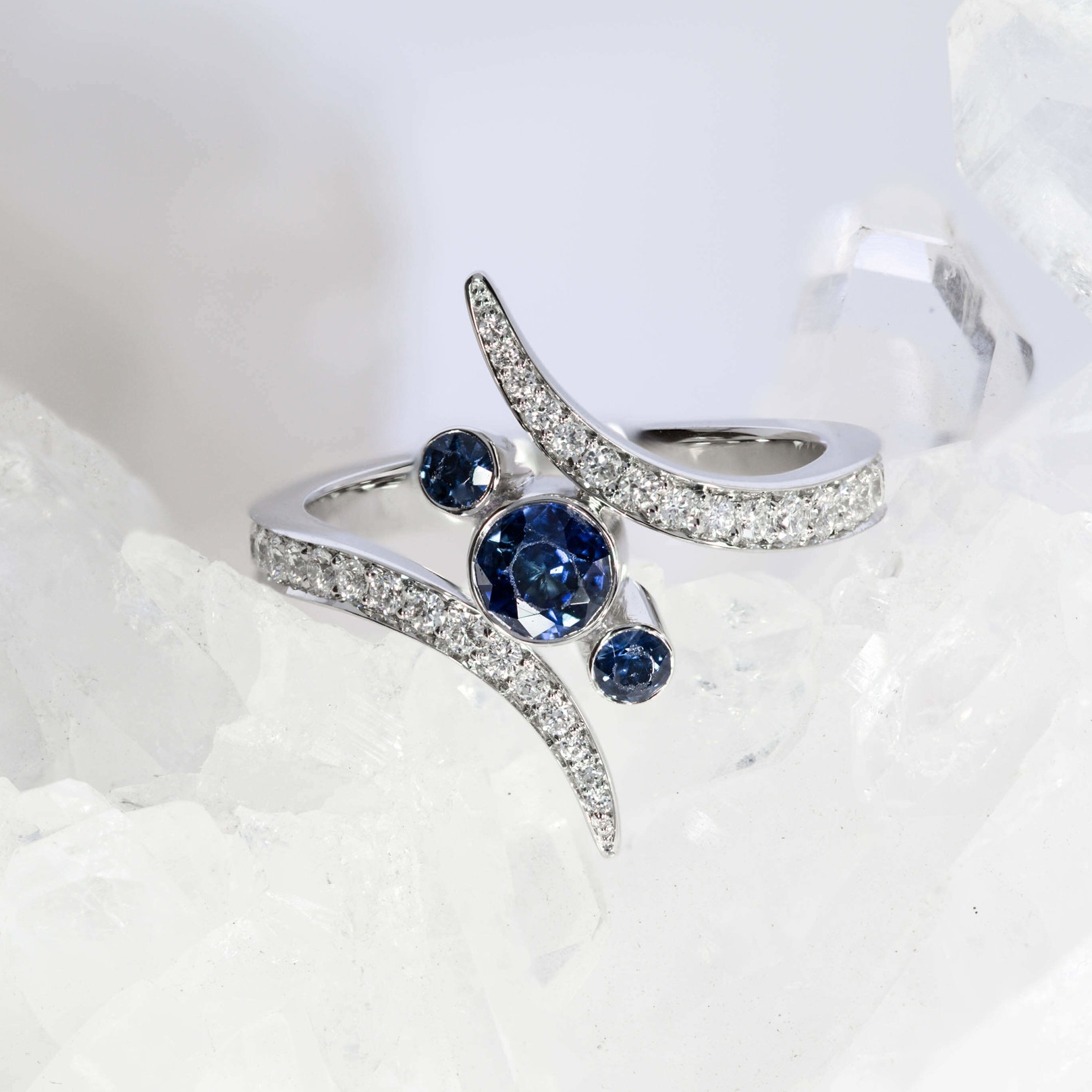 Not all heirlooms are suitable for resetting, but this stunning trio of sapphires was given the go-ahead by our gemmologists