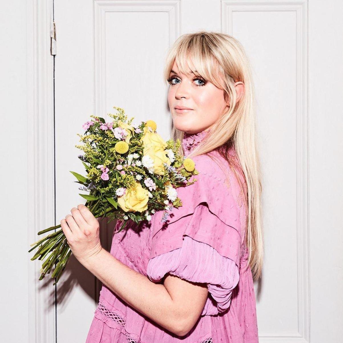 Queensmith favourite, Dolly Alderton, with her  @bloomandwild  bouquet
