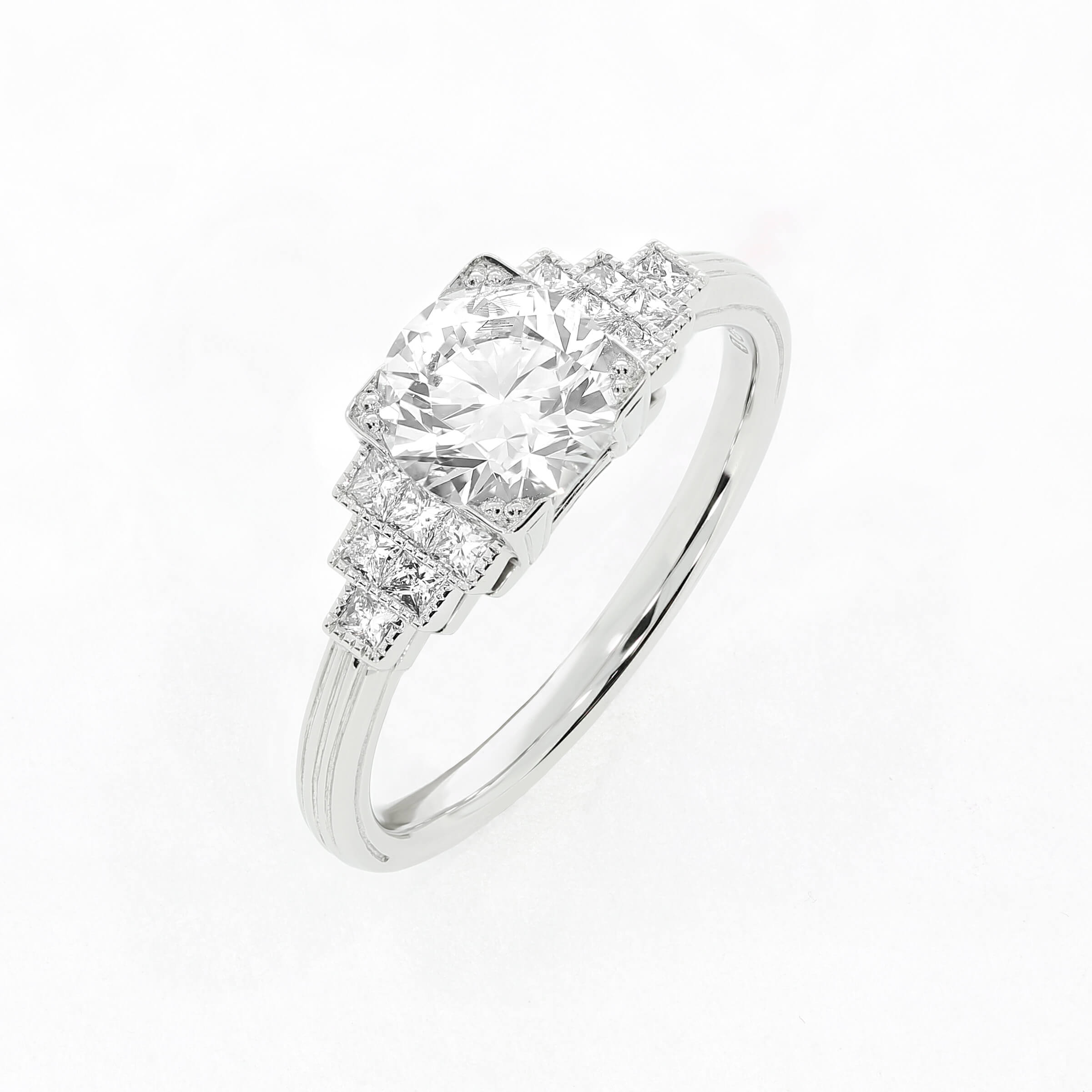 Art Deco bridal jewellery never goes out of style. Vintage-inspired  bespoke engagement ring by Queensmith