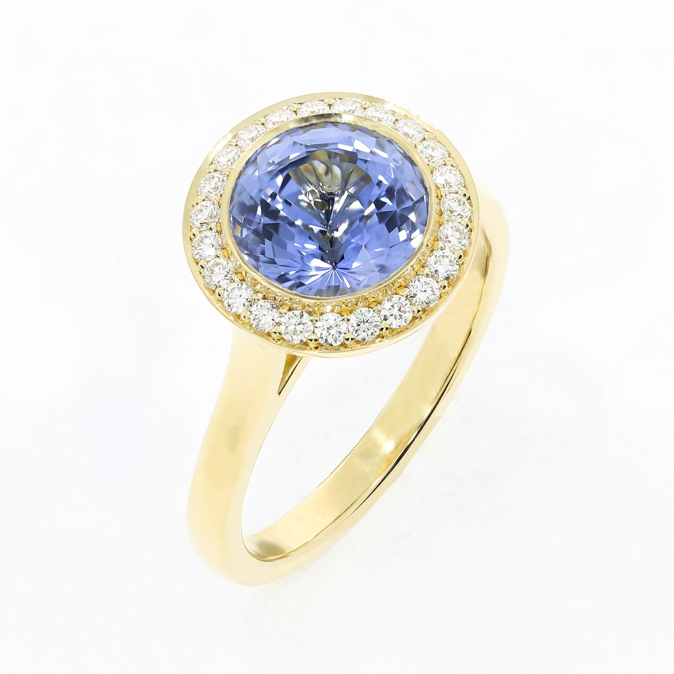 Mixing bold blues and bright yellow gold, by Queensmith