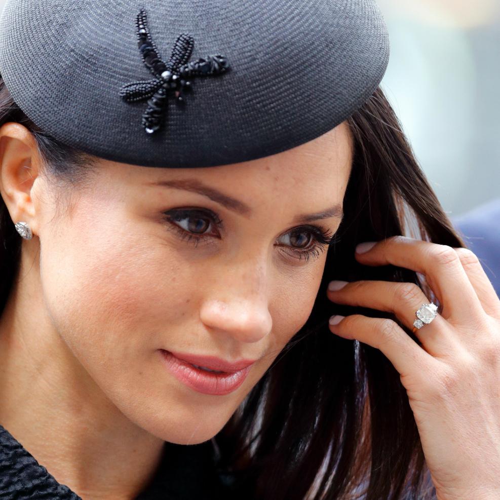 Prince Harry nailed Meghan Markle's trilogy engagement ring - bespoke is best!  Max Mumby / Indigo via Glamour