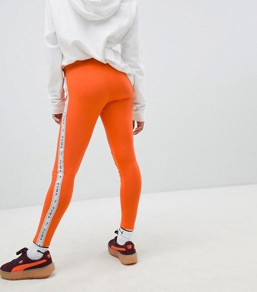 Puma Orange Taped Leggings   £21