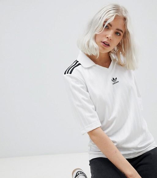 Adidas Originals Three Stripe Football Jersey   £22.50