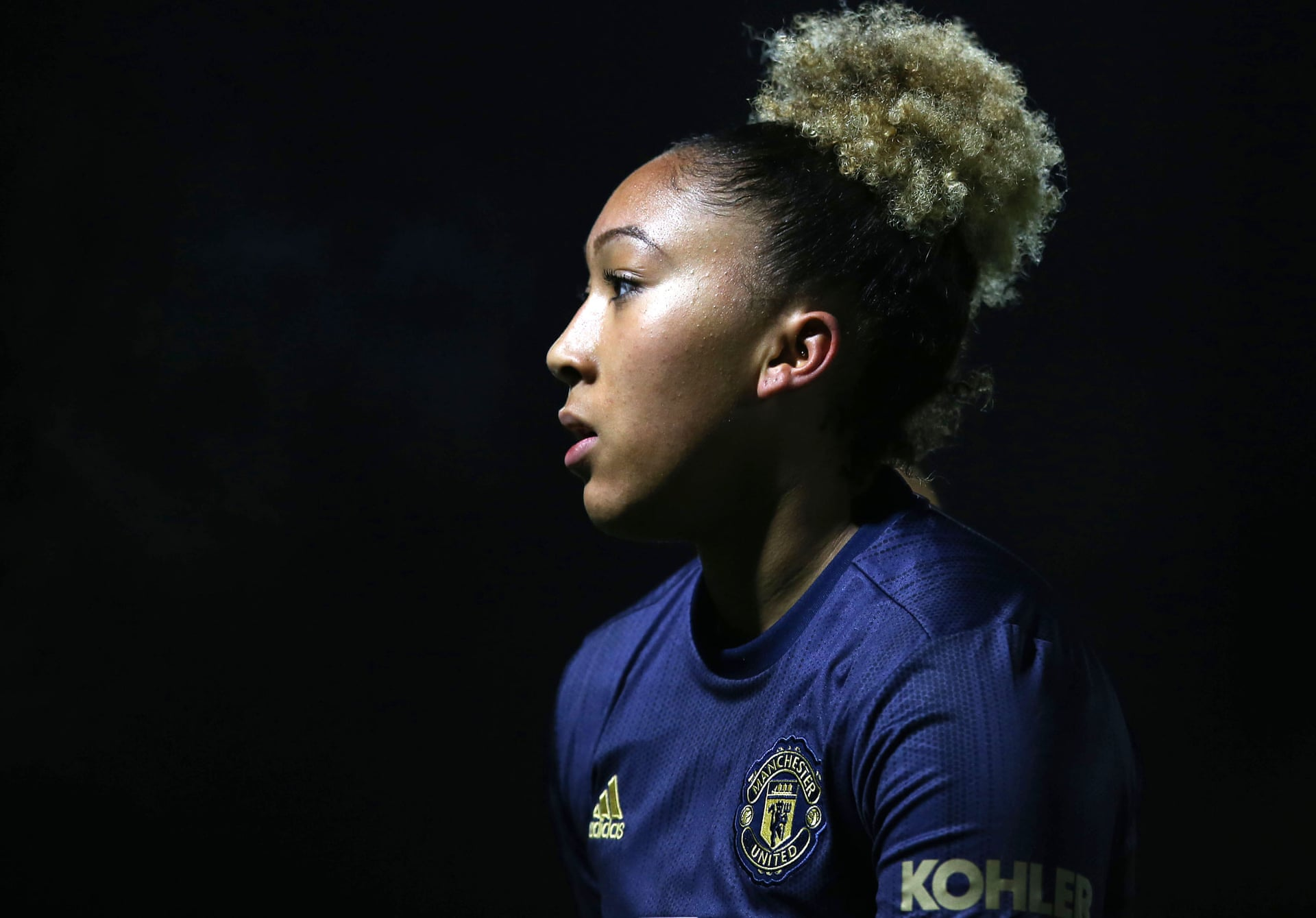 Manchester United's Lauren James impressed against Arsenal. Img: Matthew Peters