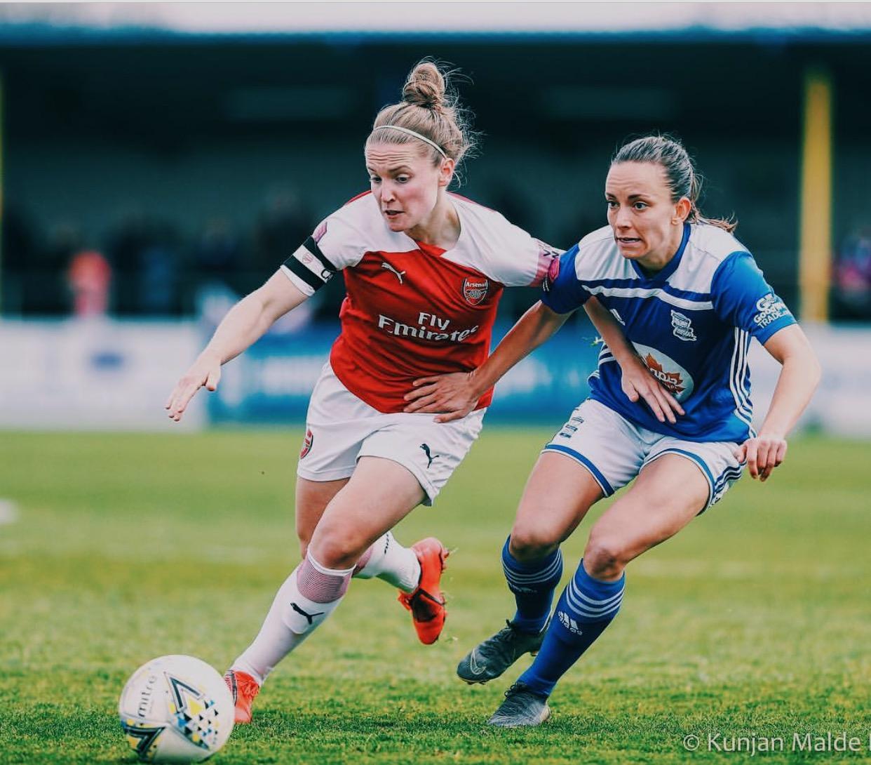 Kim Little for Arsenal vs. Lucy Staniforth for Birmingham City. Img: Kunjan Malde