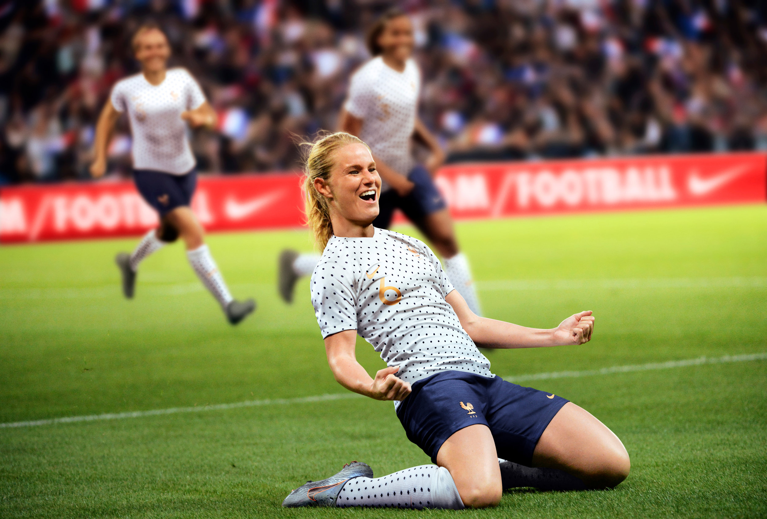 Captain Amandine Henry in the French away kit
