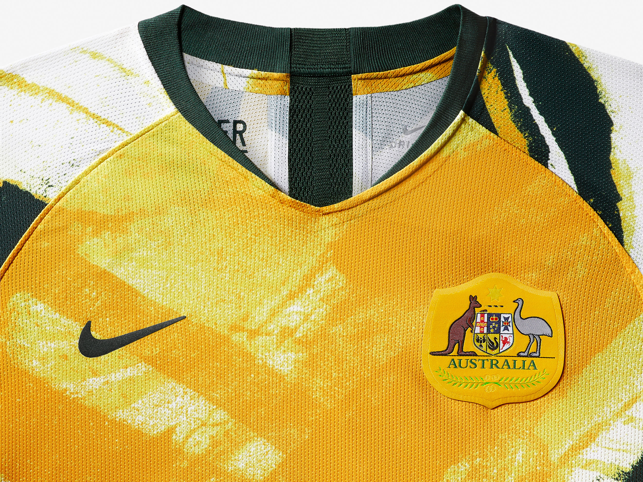 Detailing of the Australian home kit – worthy of the young Matildas squad