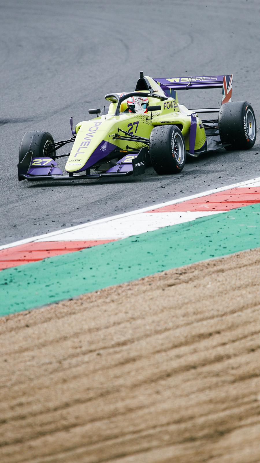 Ultimately Alice Powell took the Brands Hatch event
