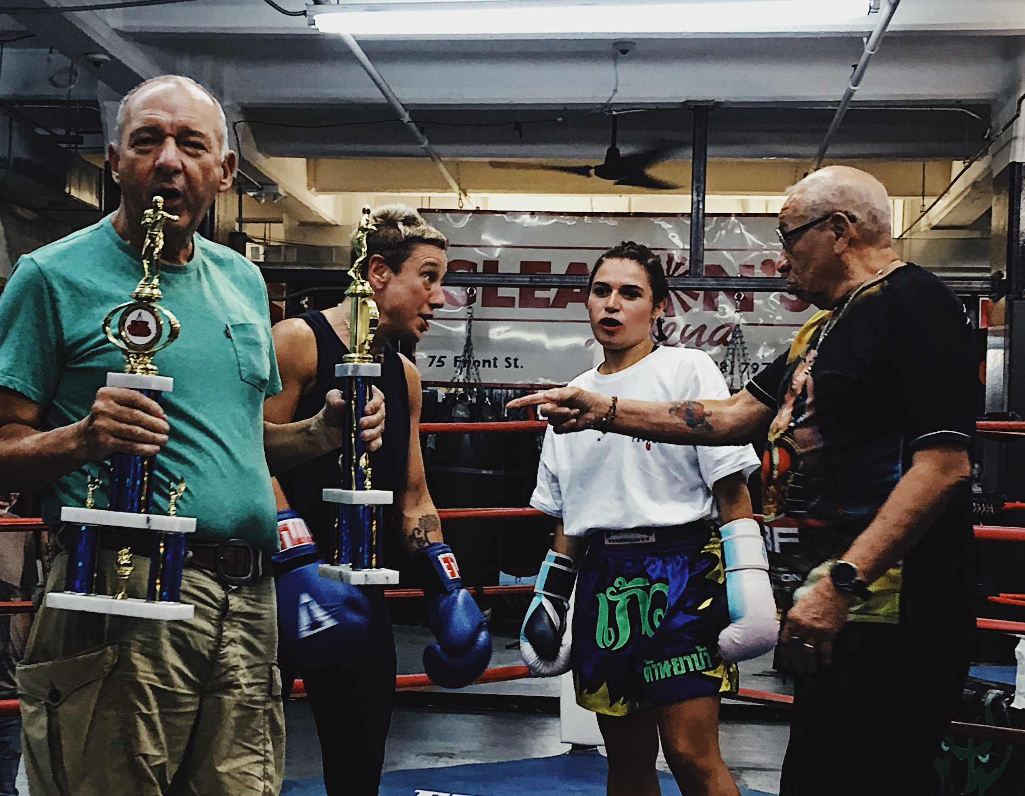 If you're going to have your first ever fight at Gleason's Gym, you're probably going to win it…
