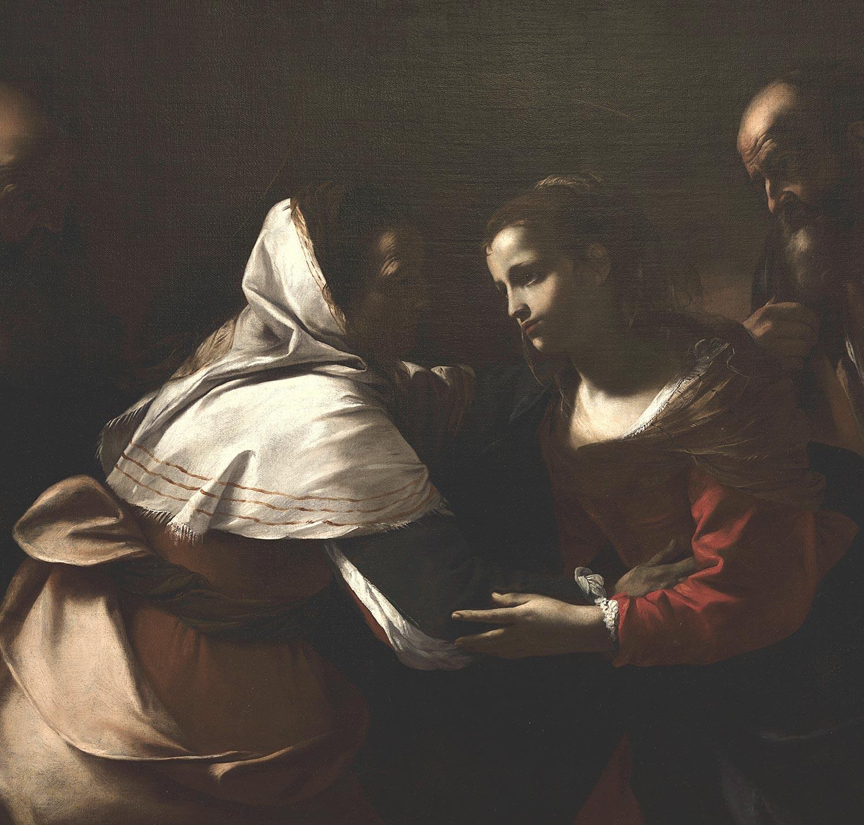 Tytuł: Nawiedzenie Matki Bożej Autor: Mattia Preti 1640/1649