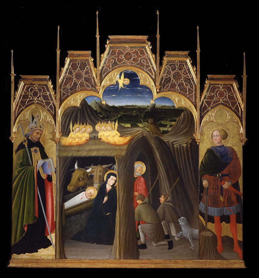 Adoration of the Shepherds between Saints Augustin and Galgano