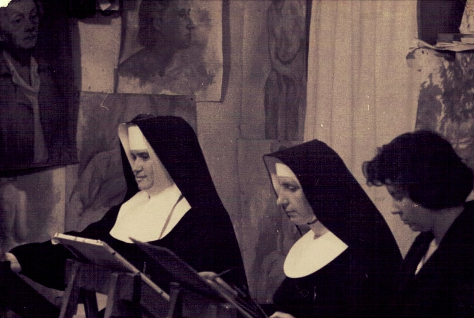Siostra M. Elżbieta na zajęciach.