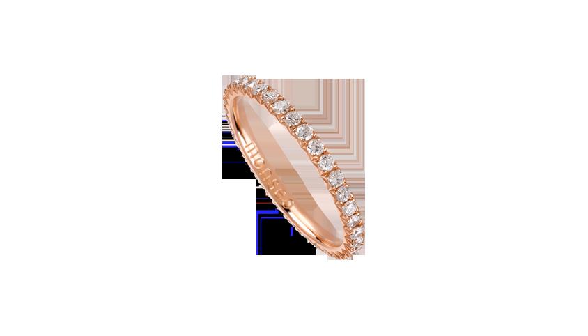 AN2451A - Aliança Moments com diamantes   Aliança em ouro rosa 19,2 kt. com 36 diamantes lapidação brilhante. Opção em ouro amarelo ou ouro branco.