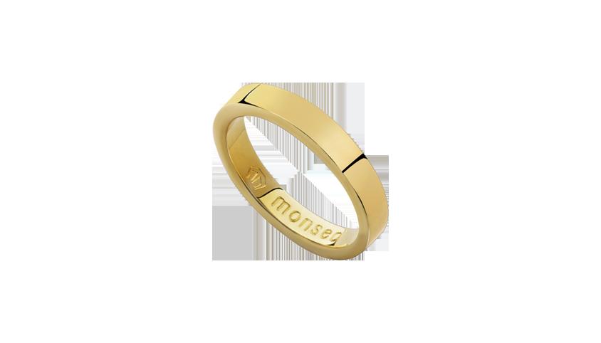 AN2427 - Aliança Moments Quadratu 5 mm   Aliança em ouro amarelo 19.2 Kt. Opção em ouro rosa ou ouro branco.