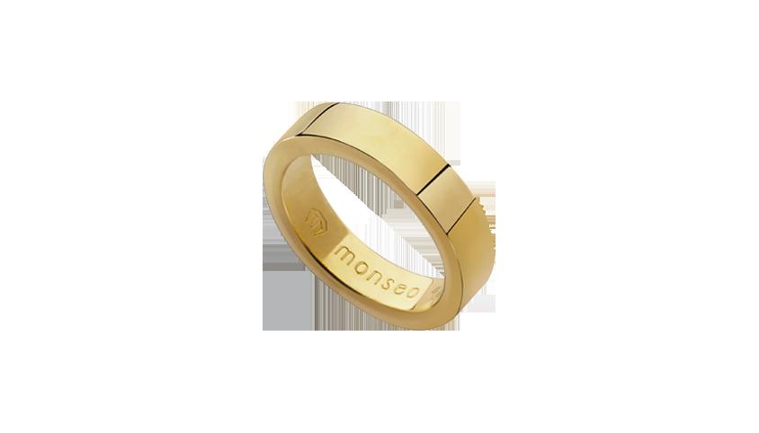 AN2426 - Aliança Moments Quadratu 6 mm   Aliança em ouro amarelo 19.2 Kt. Opção em ouro rosa ou ouro branco.