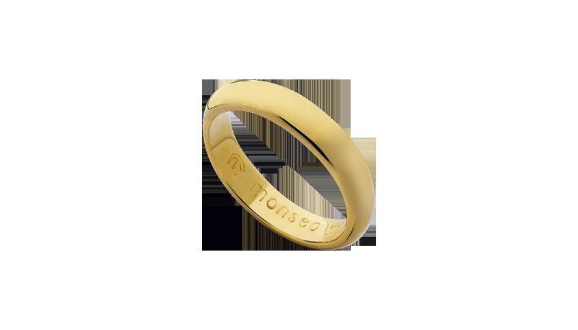 AN2432 - Aliança Moments Lovely 3.7 mm   Aliança em ouro amarelo 19.2 Kt. Opção em ouro rosa ou ouro branco.