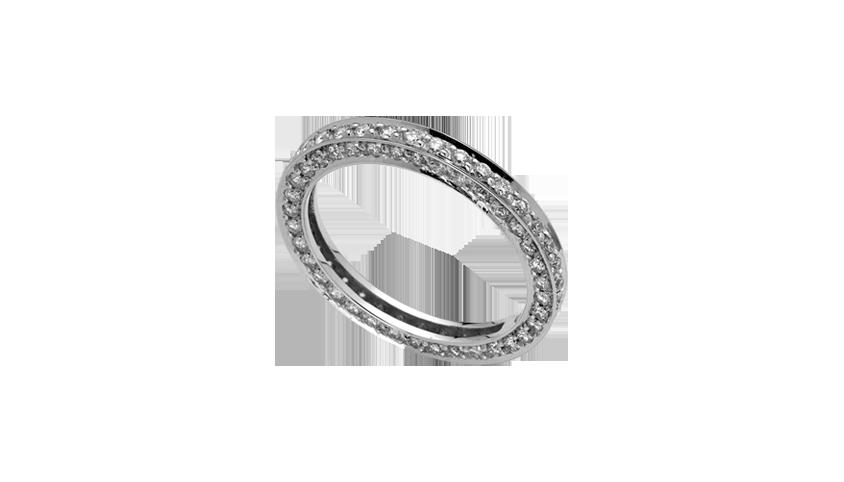 AN1675 - Aliança Moments com diamantes   Aliança em ouro branco 19.2 Kt. com 108 diamantes lapidação brilhante. Opção em ouro rosa ou ouro amarelo