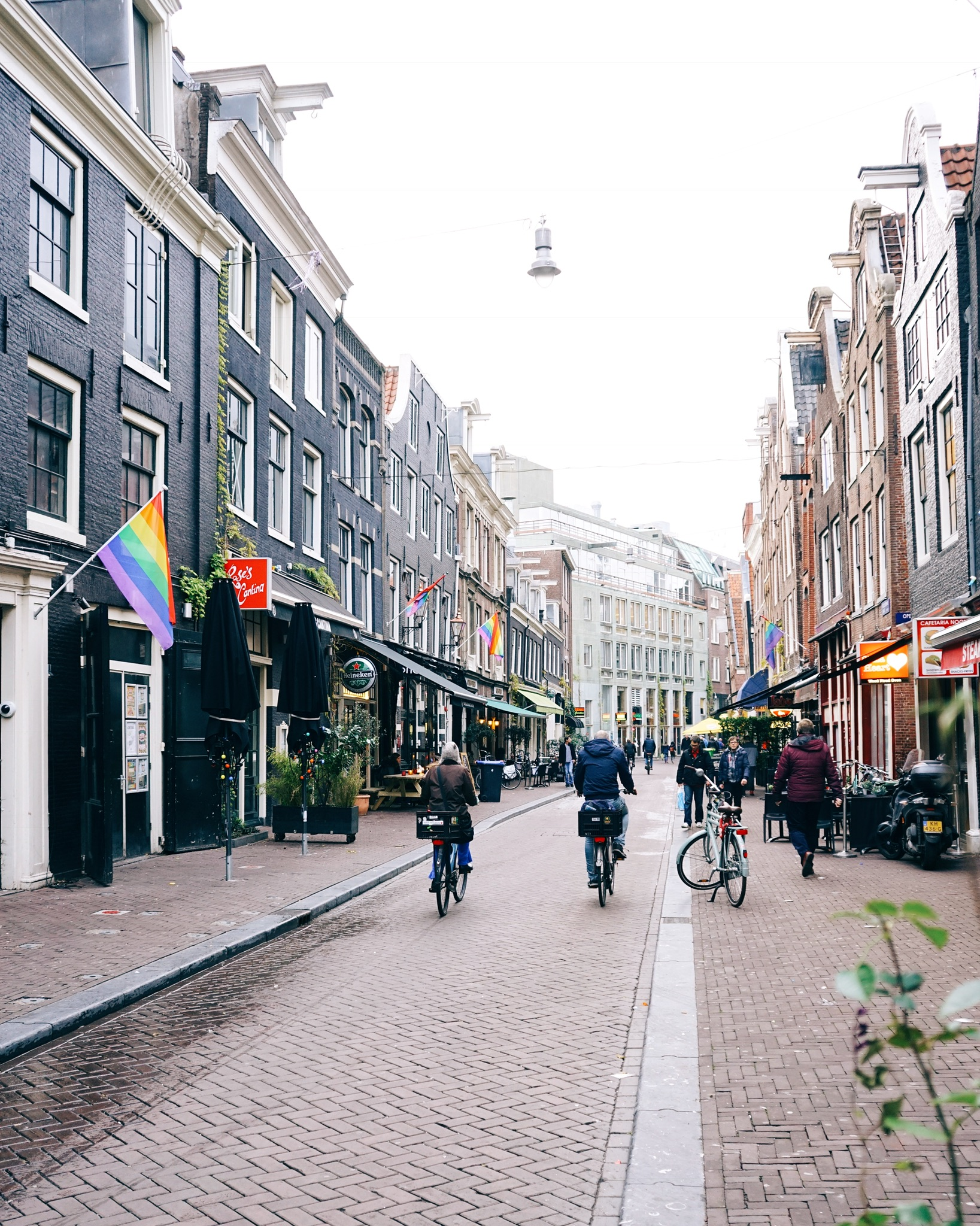 Le strade di Amsterdam sono sempre piene di biciclette: BE CAREFULL!!
