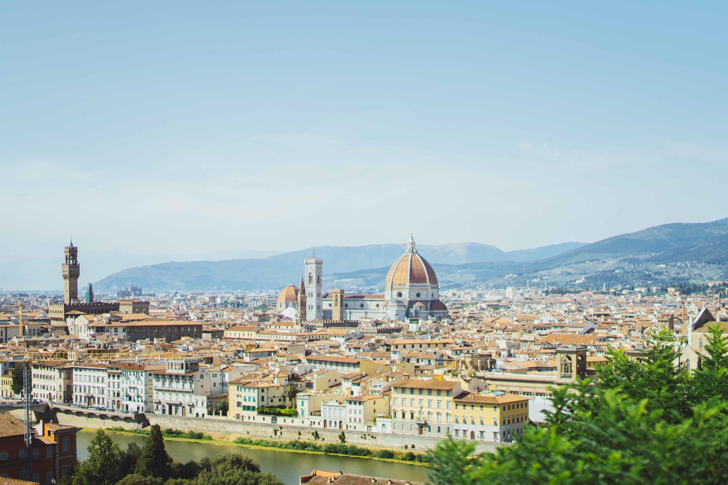 La città di Firenze vista da Piazzale Michelangelo.