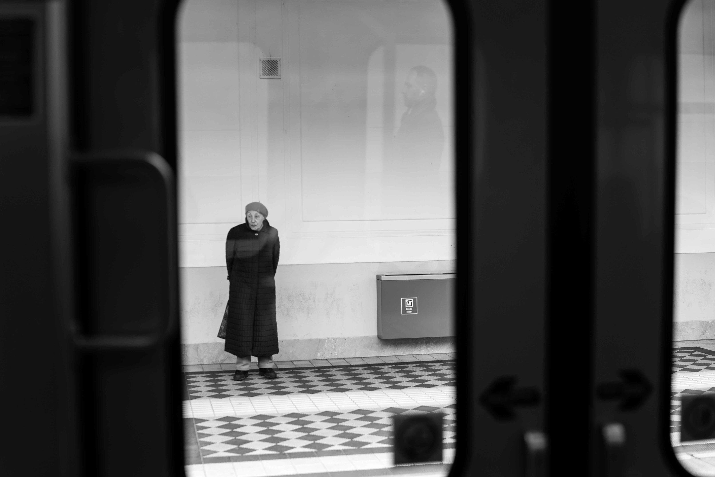 Un mio scatto durante l'arrivo in treno alla stazione di Vienna.