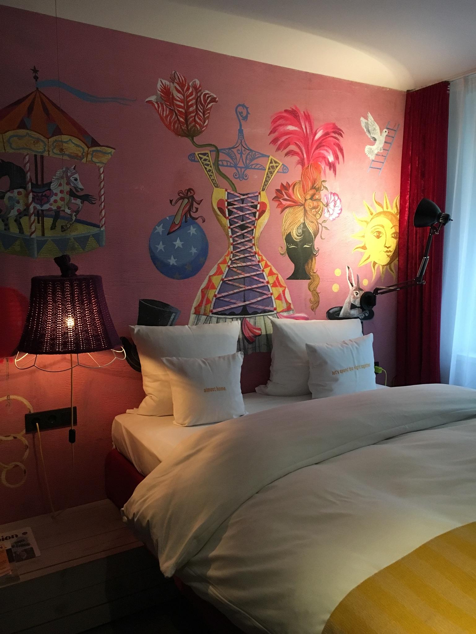 Un dettaglio della nostra stanza al 25 Hours Hotel di Vienna.