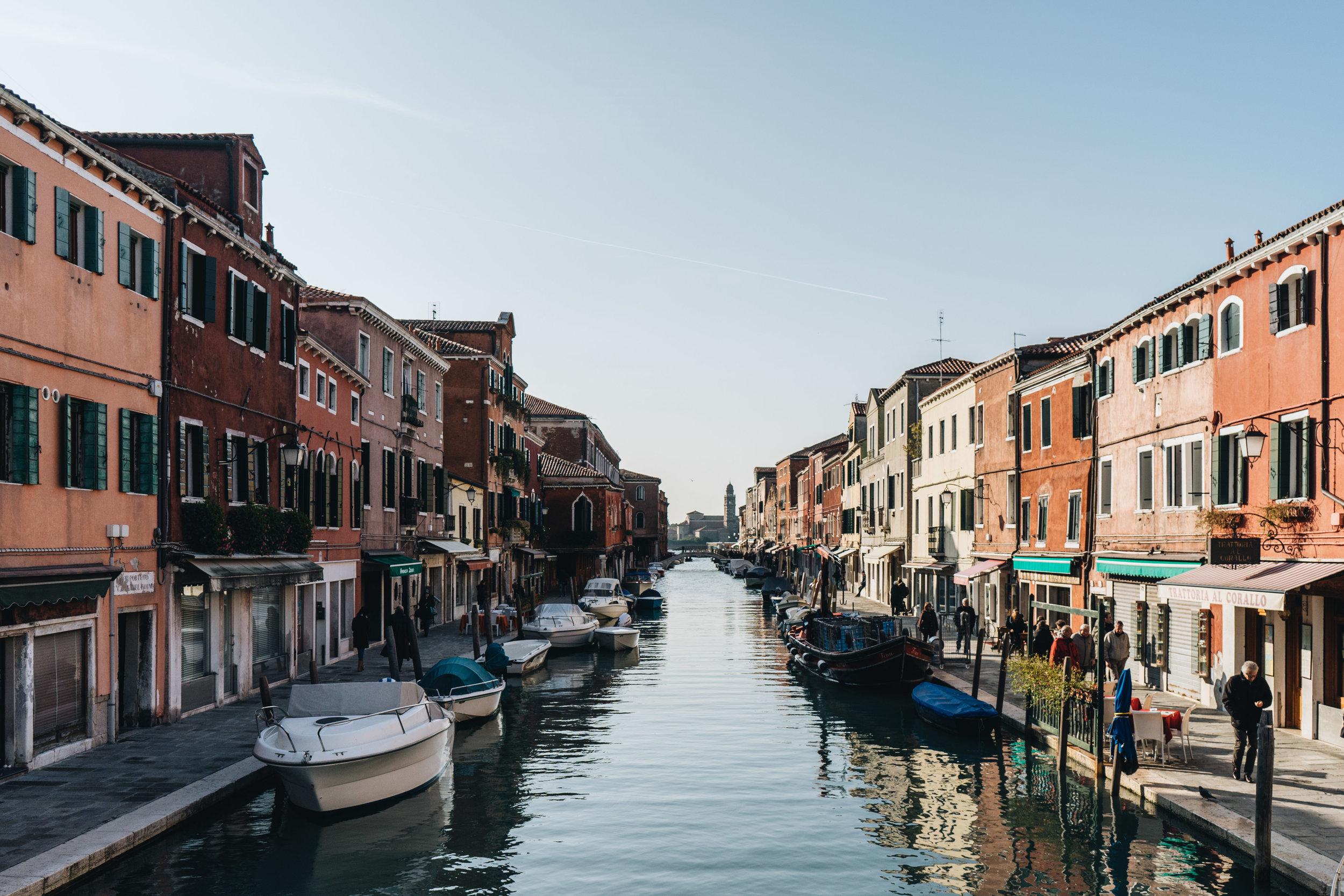 Una foto di Murano, isola della Laguna di Venezia.