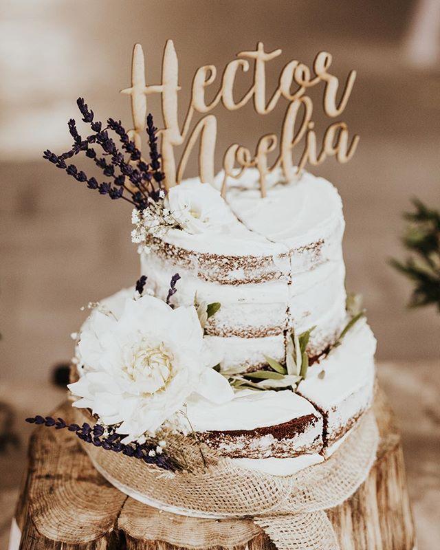 El preciós pastís de l'Hector i la Noelia ❤️