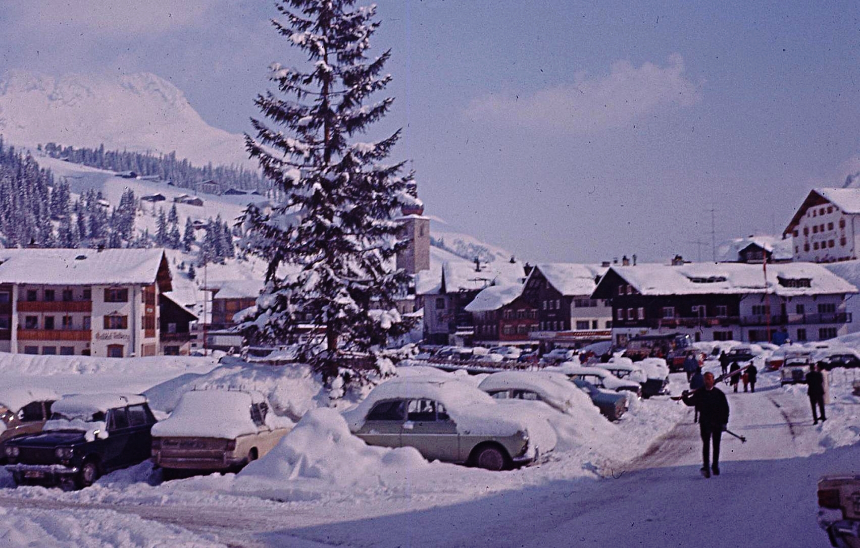 Lech in January 1967, home to the beautiful Gasthof Post