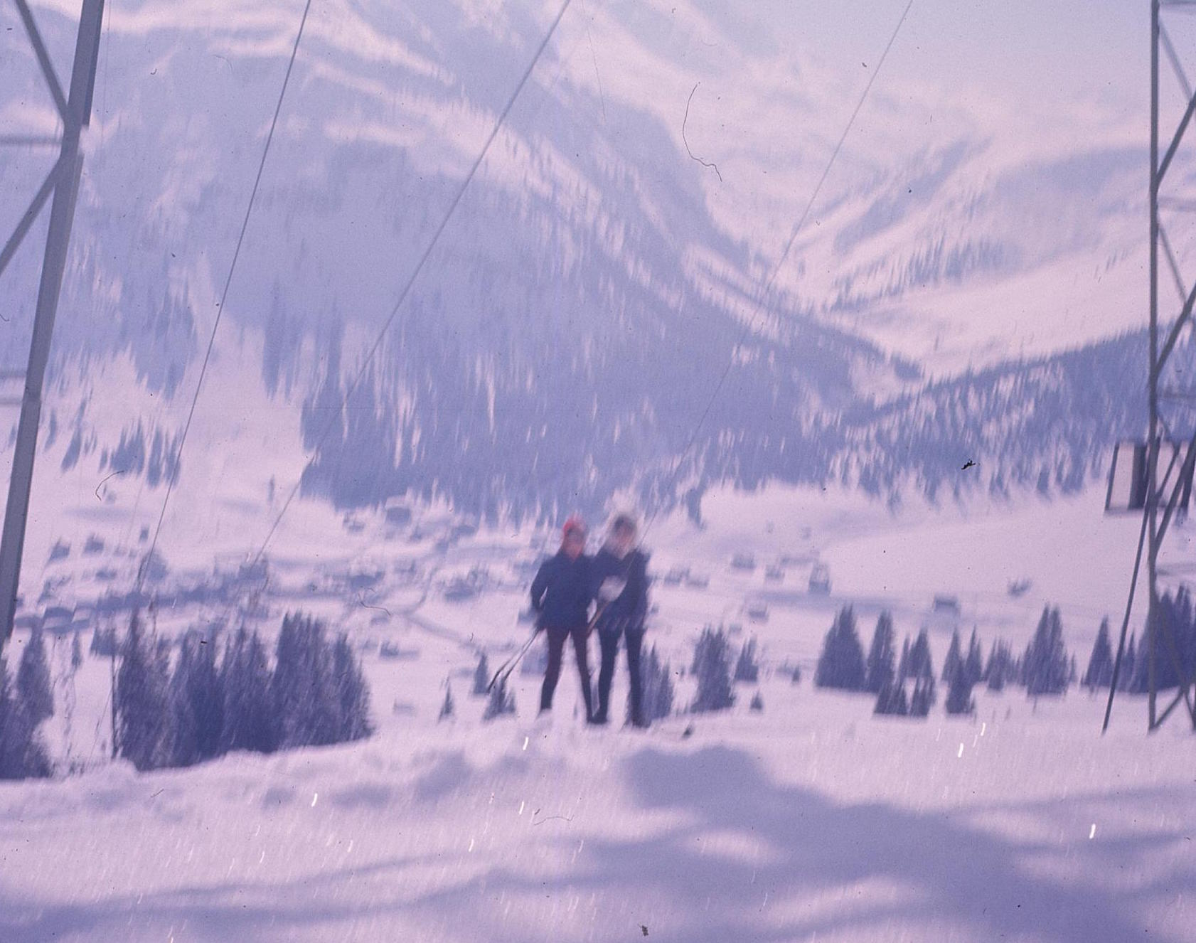 Chump and Ingrid on a meat-hook somewhere in the Arlberg