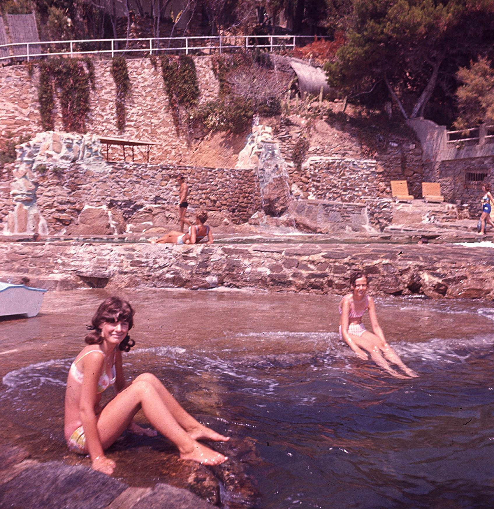 Ingrid and Chump, on the 'roches' at Roches Fleuries