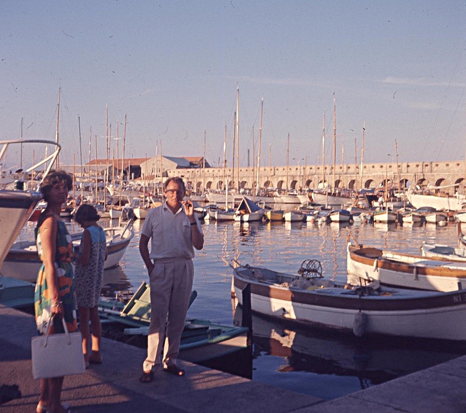"""""""At 6.30 we left for Antibes - it took ages."""""""