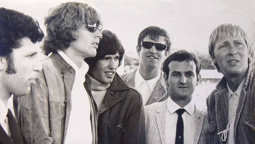 Ed 'Stewpot' Stewart, Radio London legend,the one in the dark glasses - to the right of the Walker Brothers