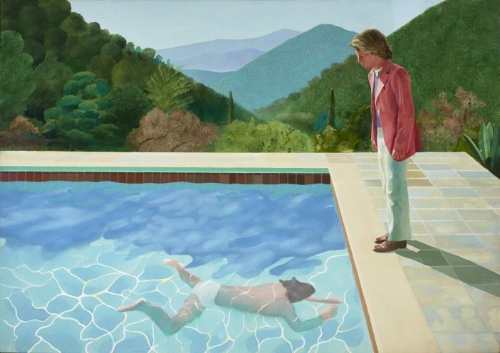 David Hockney, Portrait of an Artist ( Pool with Two Figures) (1972).