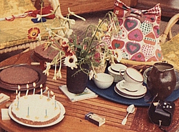 Chocolate shortbread, chocolate cake, and almond cake with lemon icing